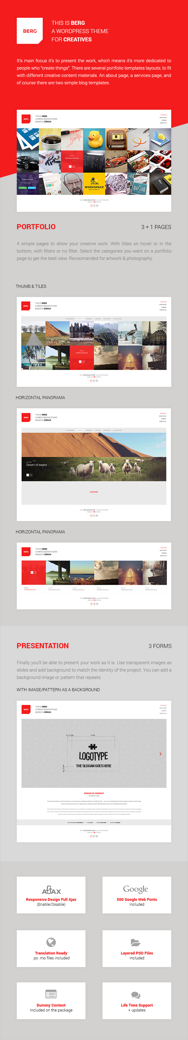 WordPress theme Berg - WordPress Portfolio Theme (Portfolio)
